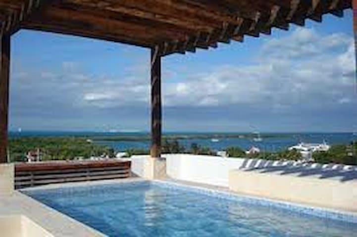 ★☼♥Stunning spot at Isla Mujeres great top pool