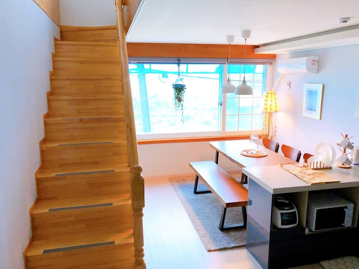 [GreenHouse] ☆파주역☆ 1분거리에 마음이 편안해지는 힐링공간, 깨끗한 숙소