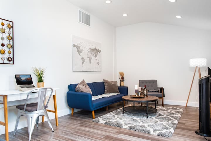 Newly renovated, cozy, modern living room