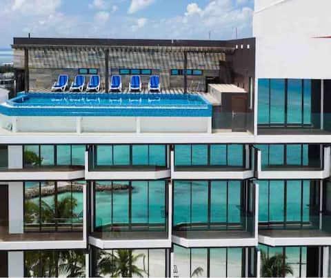 Arena beach hotel sea view