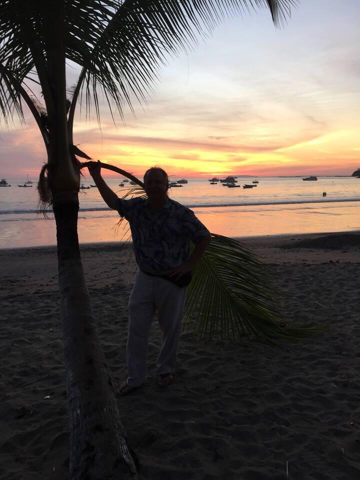 Sunset at Playa Herrundera Bay/Beach. 5 minutes away!