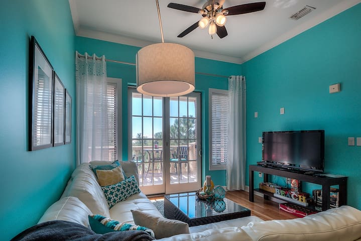 Living Room Leads to Private Balcony