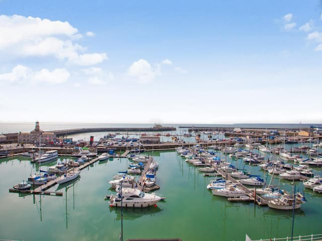 Actual view from the balcony overlooking Ramsgate Harbour