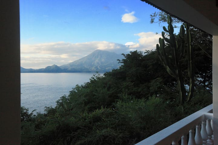 Balcony view of San Pedro volcano
