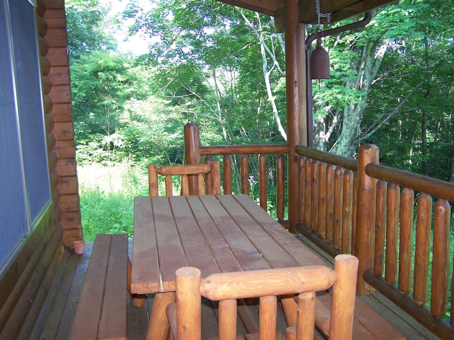 beautiful view from porch - summer