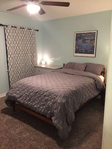 View of bedroom from the bedroom door
