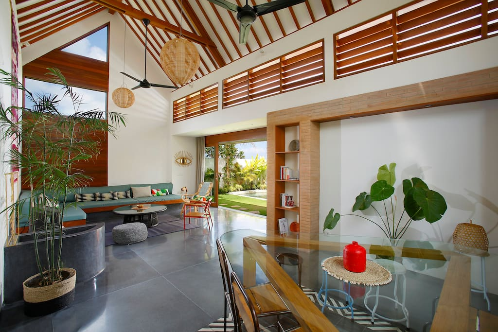 Dining, living and garden