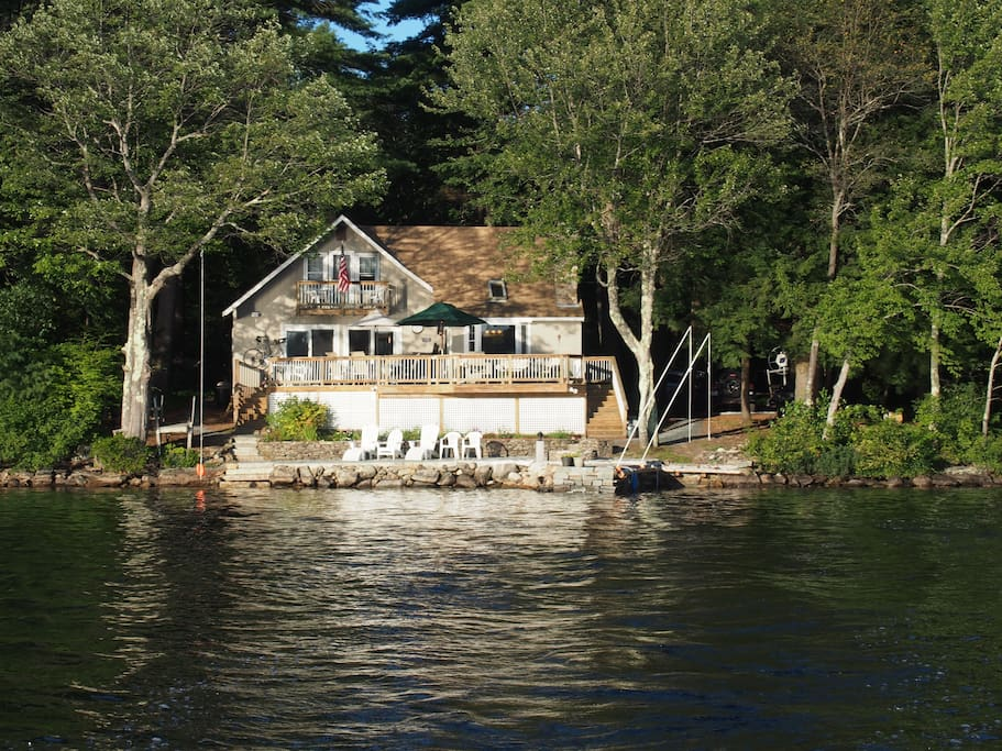 This is another view of our home taken from the boat returning to dock