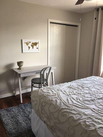 Desk area in bedroom #1