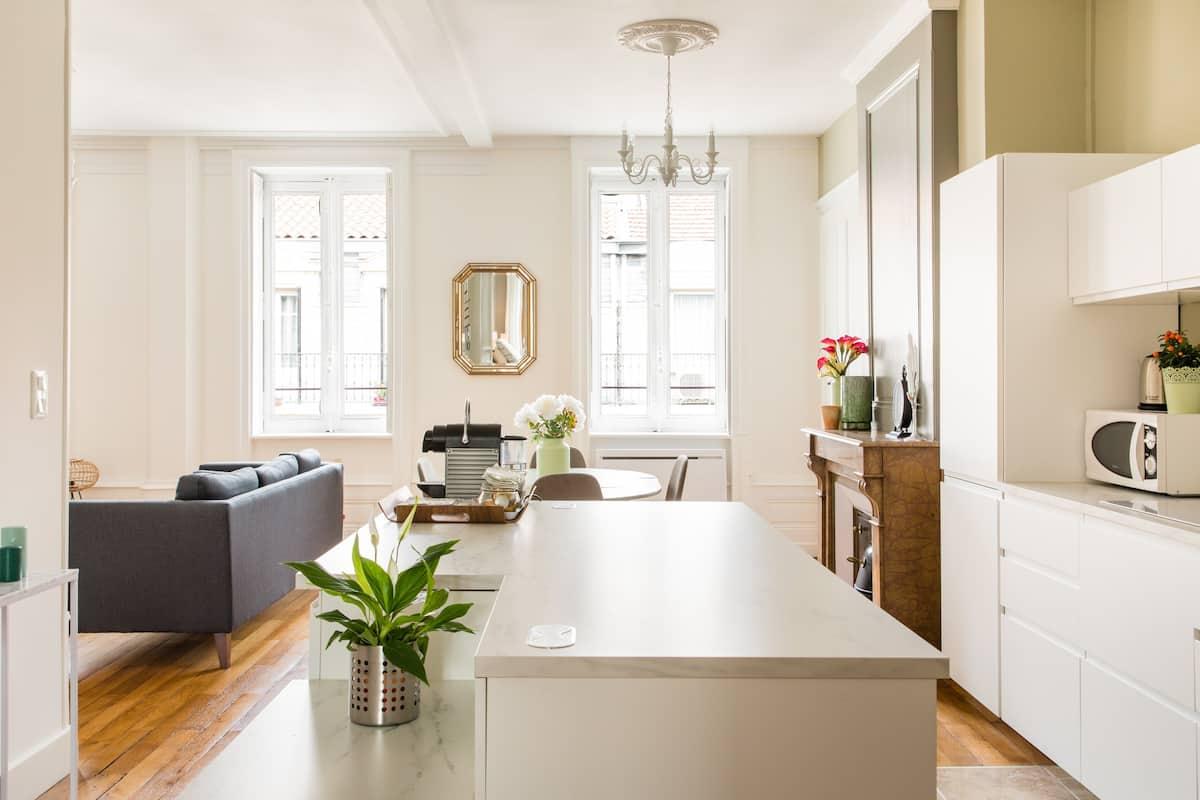 Grand appartement haussmannien au centre de Lyon