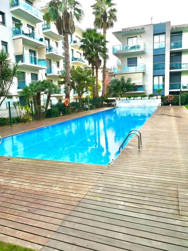 Appartement  résidence avec piscine Lloret de Mar
