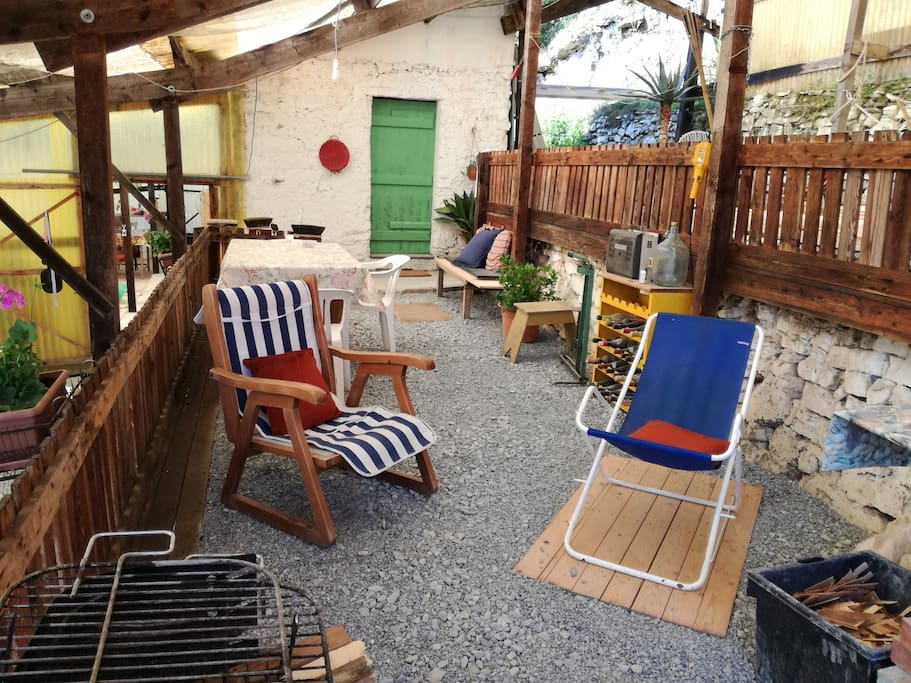 A most charming terrace garden to relax in - chill zone to sleep zone via the green door.