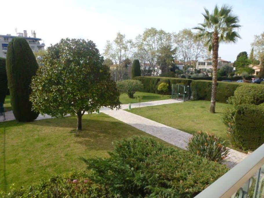 les jardins de la copropriété