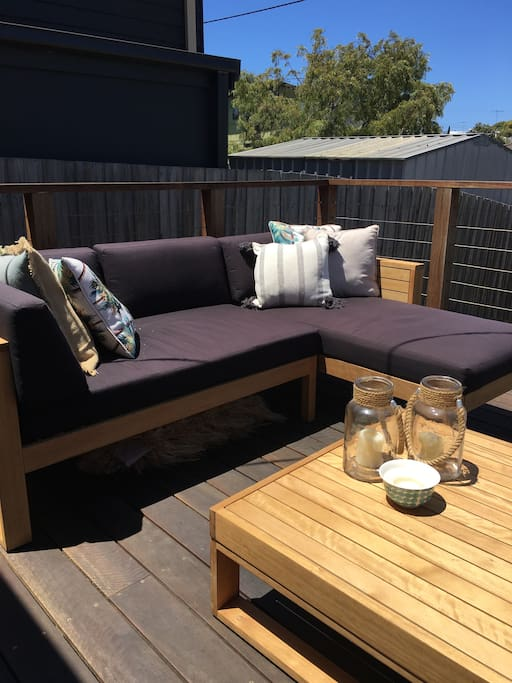 * Great front deck for a snooze in the sun during the day or stargazing at night.