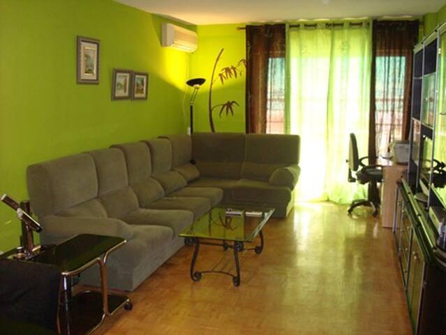 Habitación individual en apartamento soleado