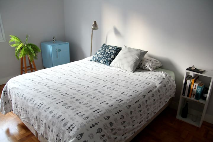 Quiet Bedroom in Cool Central Area (Pinheiros)