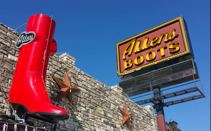 The Iconic Allen's Boots Clubhouse!