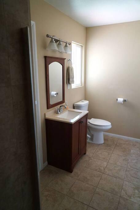 Private bathroom, also the private entrance.