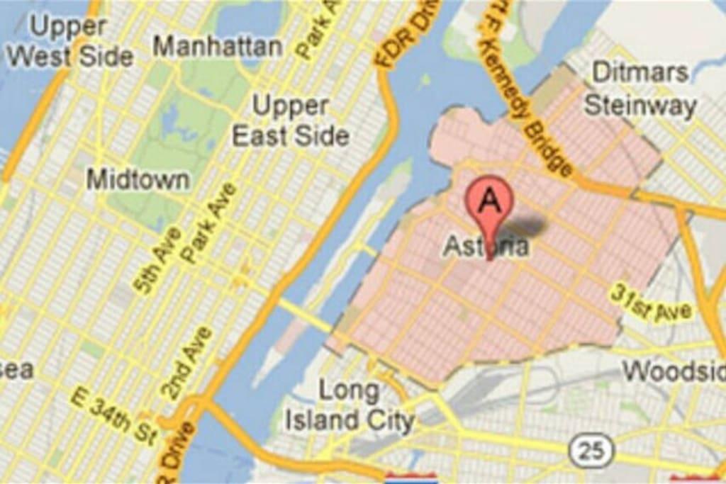 Very close to Manhattan