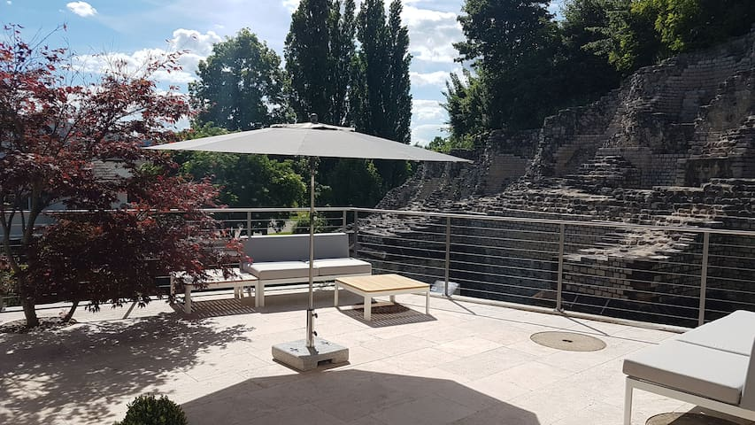 Exclusive view to the Roman Theater near Basel