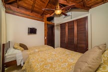 Closet, TV, A/C and a place for your surf boards!