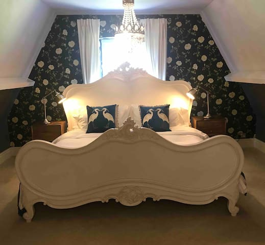 The master bedroom on the third floor