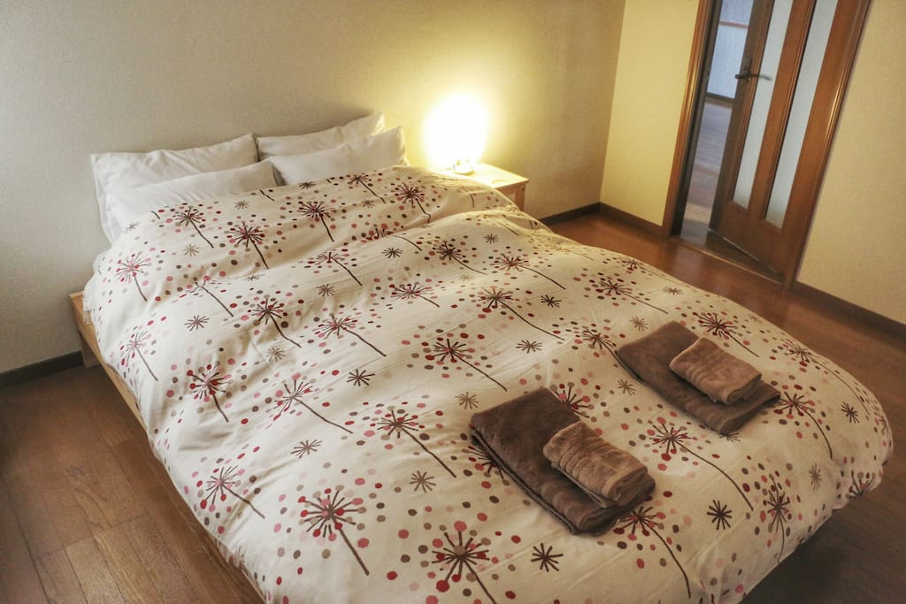 Spacious double bedroom. Perfect for a couple