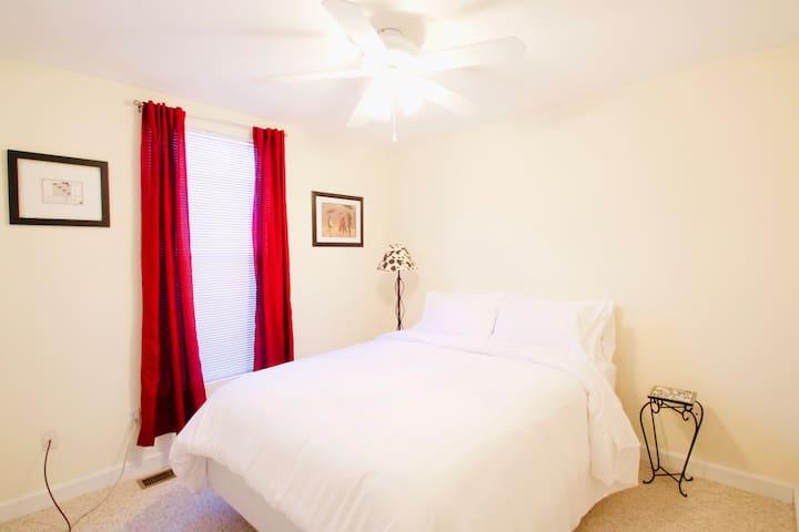 Bedroom #4.  Queen bed.  No television.