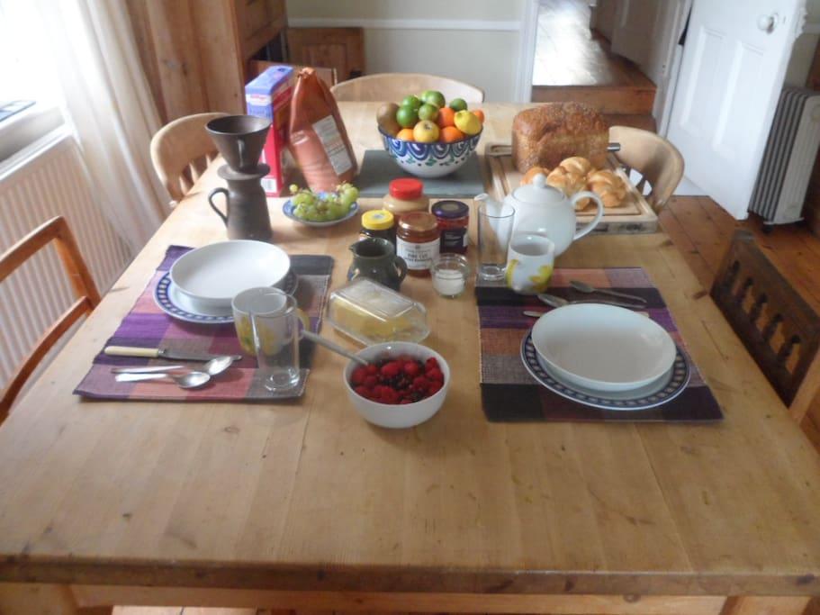 We offer continental breakfast