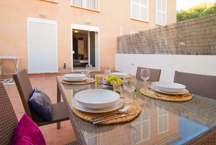 Wonderful beach house - Colonia de Sant Pere - Apartament