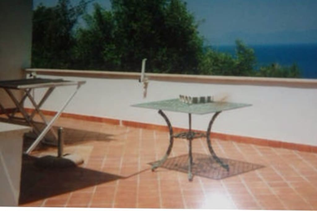 Terrazza privata con panorama