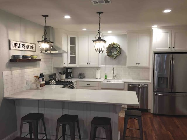 Welcome home.  Top notch finishes in our fully upgraded kitchen.  Just like home if not better!