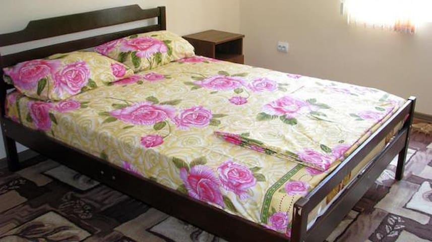 Двухместный номер с двуспальной кроватью. Абхазия