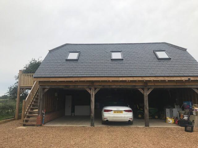 Self contained garage conversion in rural village