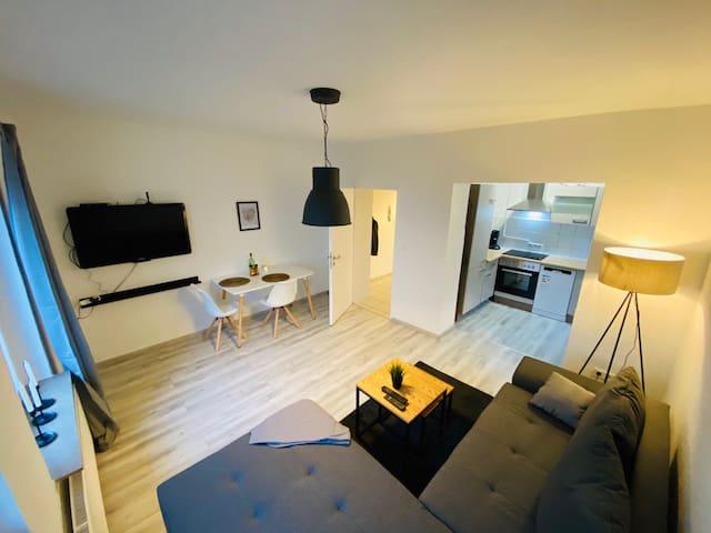 2 Zimmer-Wohnung möbliert W-Lan & TV Bochum
