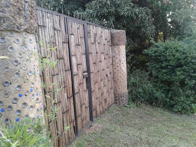Plastic Bottles Huts interlocking Bricks house