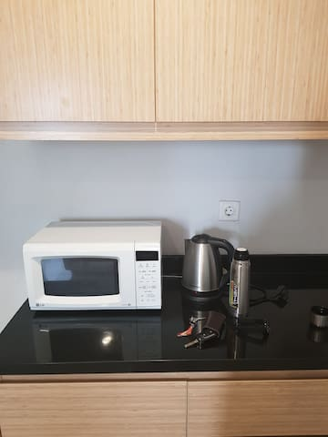 Microwave and electric kettle