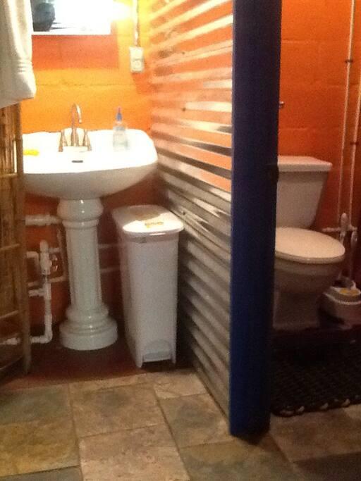 Bathroom, adjacent to bedroom