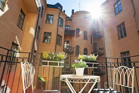 Beautiful apartment in central Stockholm, balcony - Apartment