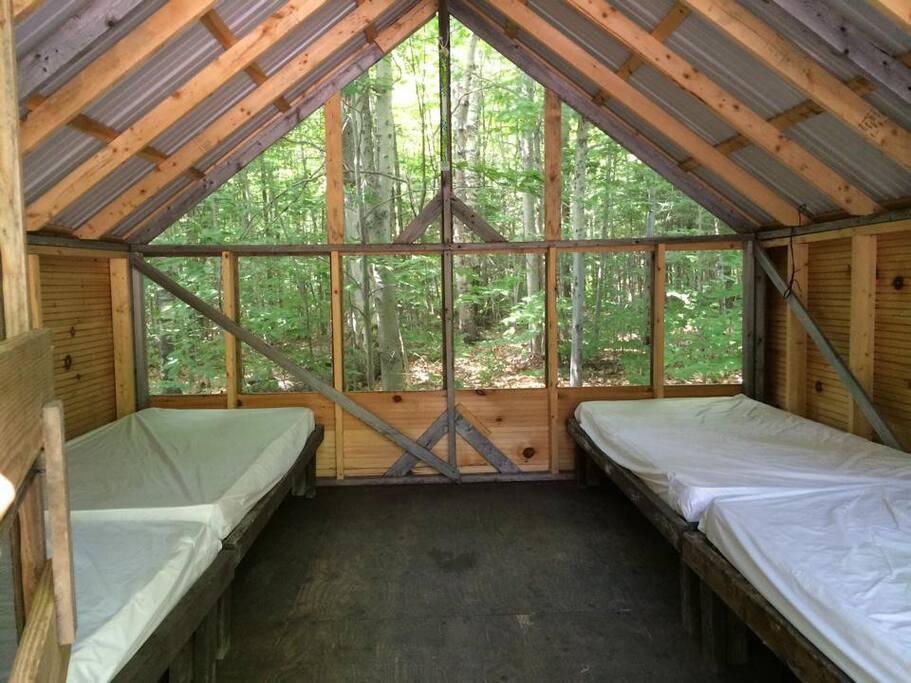 Inside Cabin Tent