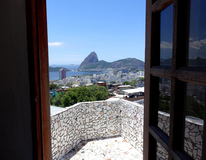 Rooms with terrace...Yes, that's the Sugar Loaf