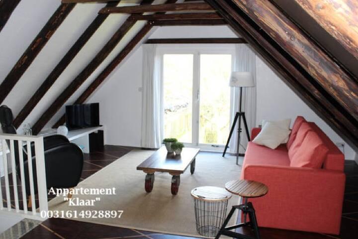 """Gezellig appartement """"Klaar"""" heet u welkom!"""