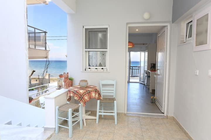 Apartment right in front of sea, in the village