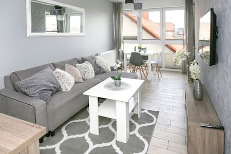 Cosy and classy Grey apartment in hear of Mielno