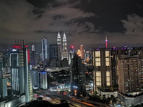 Best KLCC Night View From Bedroom