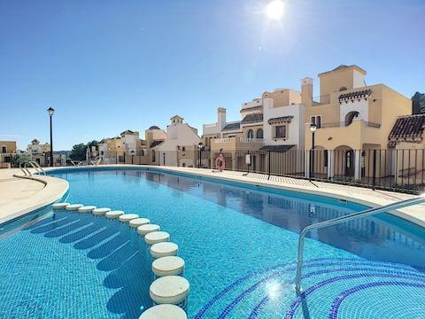 La Manga Club house, roof terrace, pool