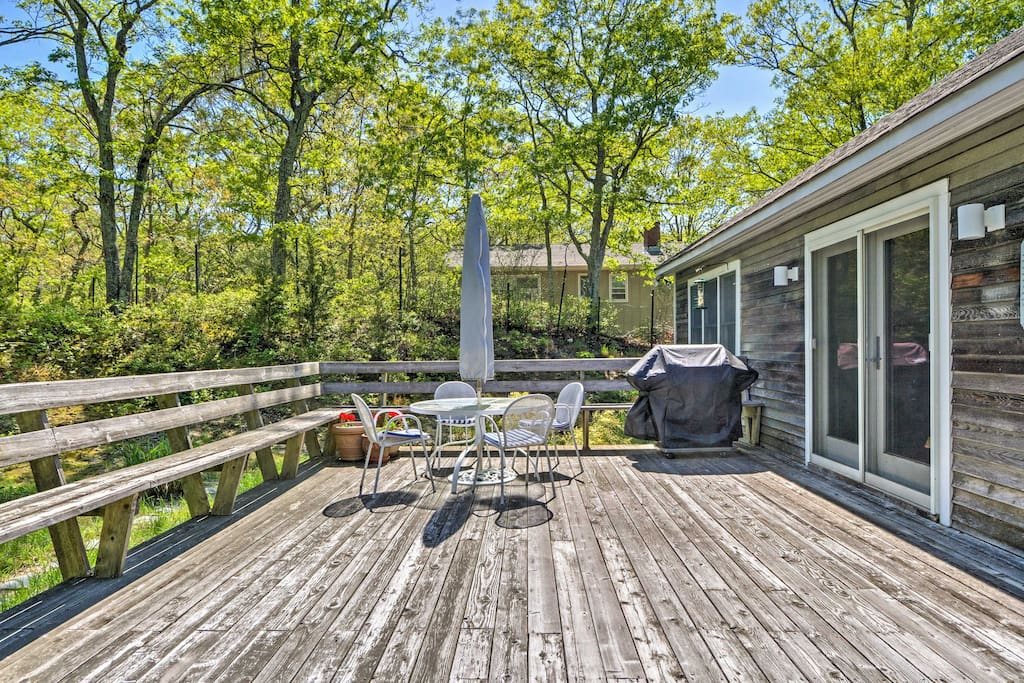 Soak up the sun or dine under the stars on this spacious back deck.