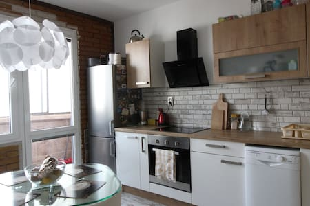 3 BD apt with balcony, 15 min. from the Old Town