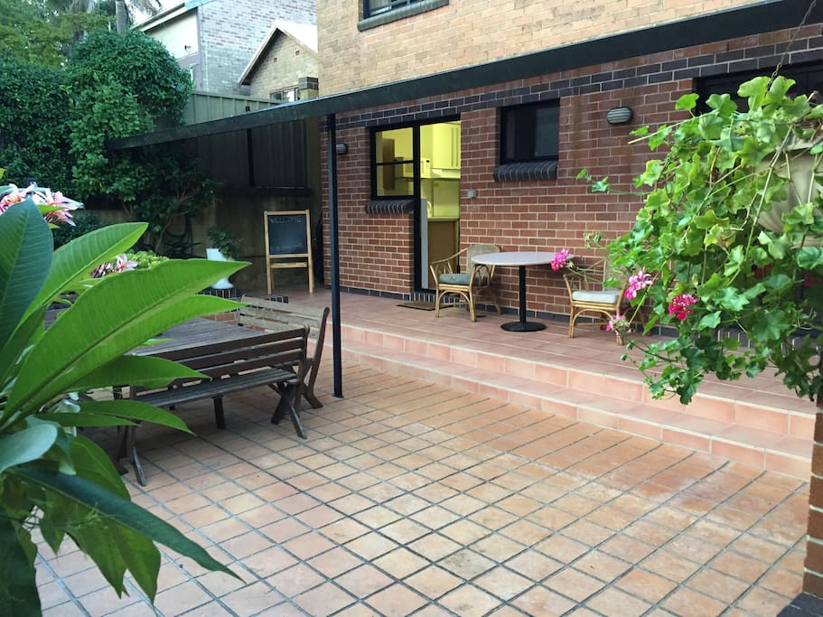 Garden courtyard ideal for entertaining