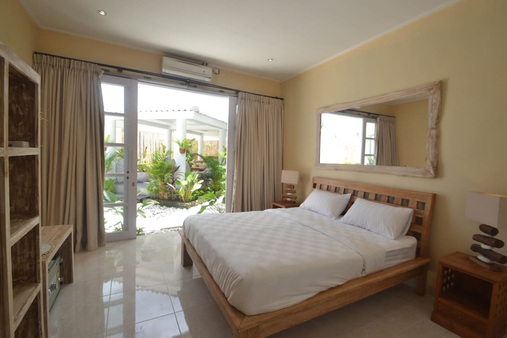 private room with private bathroom, AC, hot water, wifi internet, cable TV.